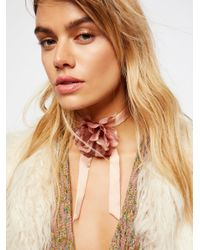 Free People - Brown Accessories Jewelry Necklaces Bolos & Tassels Rock & Rose Bolo - Lyst