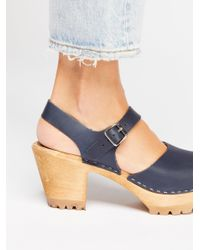 Free People - Blue Abby Clog - Lyst
