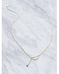 Free People | Metallic 14k Ball Chain Diamond Necklace | Lyst