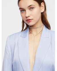 Free People - Multicolor Crystal Cove Delicate Bolo - Lyst