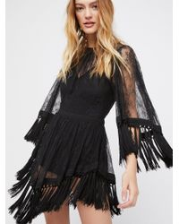 Free People - Black Are You Ready Girl Mini Dress - Lyst