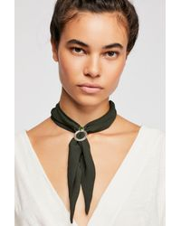 Free People - Green In The Loop Scarf Necklace - Lyst