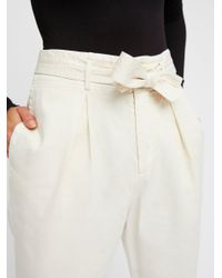 Free People - Black High-waisted '90s Peg Pant - Lyst