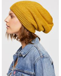 Free People - Brown All Day Every Day Slouchy Beanie - Lyst