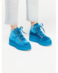 Free People - Blue Top Peak Hiker Boot By Jeffrey Campbell - Lyst