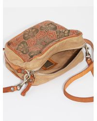 Free People - Natural Livorno Painted Crossbody - Lyst