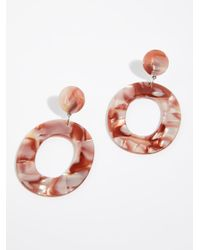 Free People - Multicolor Lucy Resin Hoop Earrings By Zhuu - Lyst