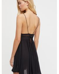 Free People - Black First Love Fit & Flare Mini Dress By Intimately - Lyst