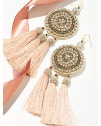 Free People - Metallic Winona Embellished Tassel Earrings - Lyst
