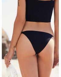 Free People - Black The Kate Bikini Bottom - Lyst