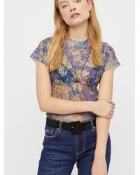 Free People - Blue Lace Layering Cami - Lyst