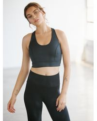 Free People - Black Light Synergy Crop - Lyst