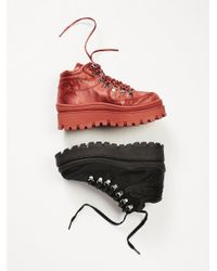 Free People - Red Top Peak Hiker Boot - Lyst