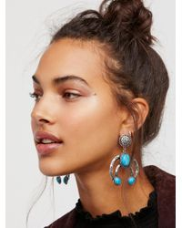 Free People | Blue Road To Cali Turquoise Knockers | Lyst