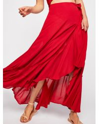 Free People - Red Bring On The Heat Maxi Dress - Lyst