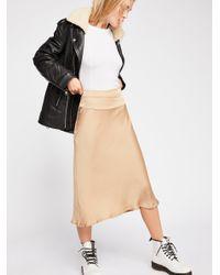 Free People - Black Normani Bias Skirt - Lyst