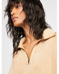 Free People - Natural Summer Night Half-zip Pullover - Lyst