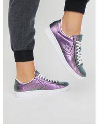 Free People - Purple Viola Leather Low Top Sneaker - Lyst