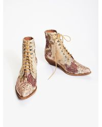 Free People - Natural Grove Lace-up Western Boot - Lyst