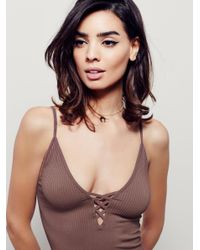 Free People - Purple The Crossfire Cami - Lyst