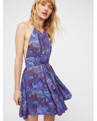 Free People - Purple Marlbelous Mini Dress - Lyst