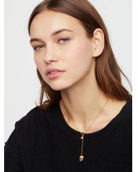 Free People - Multicolor Raw Stone Charm Lariat - Lyst