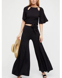 Free People - Black Dancing Away With My Heart Trouser - Lyst