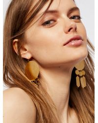 Free People - Multicolor Hyun Geometric Plate Earrings - Lyst
