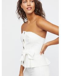 2e3db002a15ca5 Lyst - Free People Forever Yours Corset Top in White