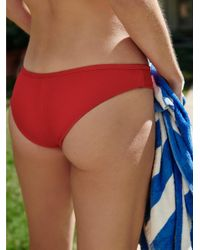 Free People - Red Alana Bikini Bottom - Lyst