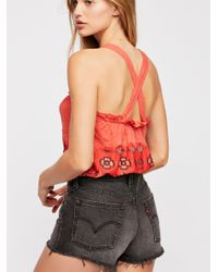 Free People - Red We The Free Love Life Bubble Top - Lyst