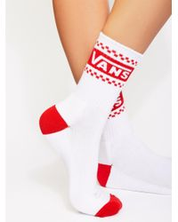 Free People - Red Throwback Crew Sock - Lyst