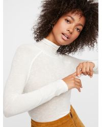 Free People - White So-soft Turtleneck - Lyst