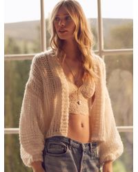 Free People | White Chamomile Cardi | Lyst