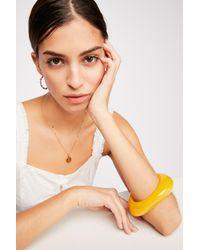 Free People - Yellow Fluid Resin Bangle By Adia Kibur - Lyst