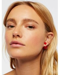 Free People - Red Double Sided Orbit Studs - Lyst