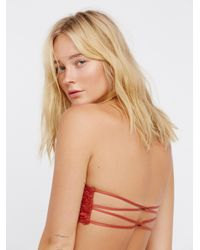 Free People - Red Essential Lace Bandeau - Lyst