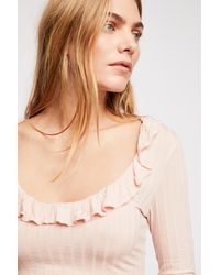 Free People - Pink Baby Jane Long Sleeve By Intimately - Lyst