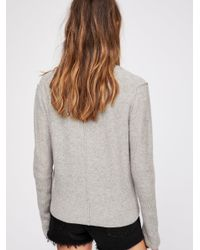 Free People - Gray Megs Cashmere Cardi - Lyst