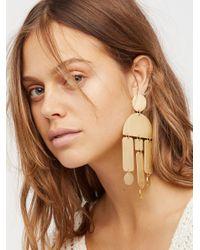 Free People - Brown Windchimes Brass Earring - Lyst