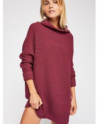 Free People - Red Ottoman Slouchy Tunic - Lyst