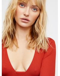 Free People - Red Clothes Bodysuits Feelin' Fine Bodysuit - Lyst