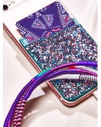 Free People | Purple Leather Iphone Pocket | Lyst