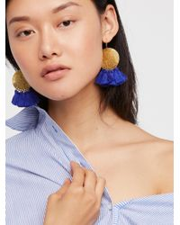 Free People | Blue Lunar Rays Tassel Earrings | Lyst