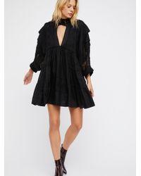 Free People - Black Heartbreaker Mini Dress - Lyst
