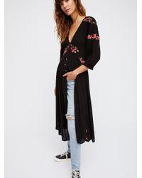 Free People - Black Day Glow Midi Dress - Lyst
