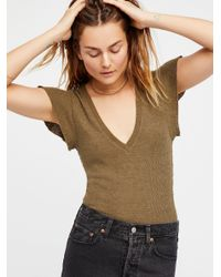 Free People - Multicolor We The Free Simone Tee - Lyst