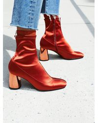 Free People - Red Spectrum Sock Boot - Lyst
