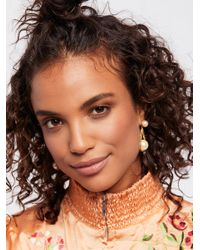 Free People - Multicolor Accessories Jewelry Earrings Cradled Double Pearl Earrings - Lyst