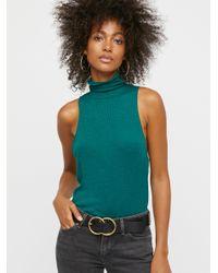 Free People - Green Topanga Sleeveless Turtleneck - Lyst